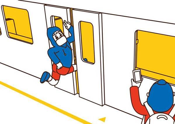 吊環不是你的舞台啊!超有梗捷運插畫,讓你搭車從此再也不無聊