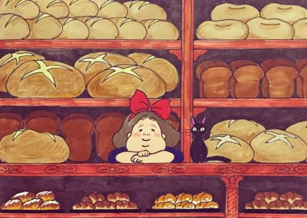 好自私!插畫家化身主角亂入宮崎駿,竟然偷偷跟錢婆婆&無臉男喝下午茶!