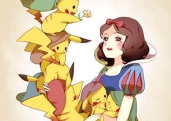 世界真小!從未曝光的Pokemon好友圈大公開,沒想到皮卡丘跟白雪公主居然也認識!