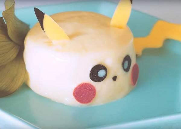 遊戲抓不到改用肚皮捕獲寶可夢! 彈力滿滿「皮卡丘芒果布丁」竟然也是免烤箱甜點