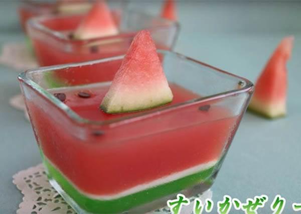 只要4種簡單材料,你就可以用「西瓜果凍」把你的朋友都給萌倒!