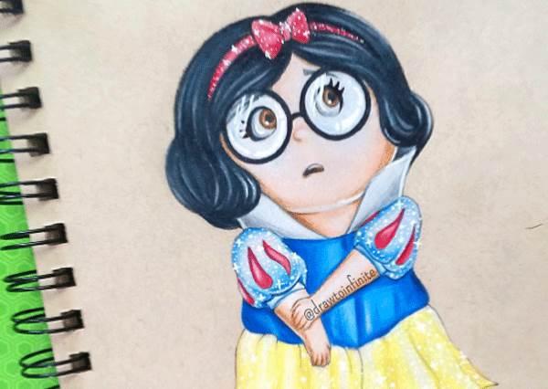 艾莎看到小小兵扮她的樣子會怎麼想?迪士尼成員換裝亂入不同角色,意外很搭!