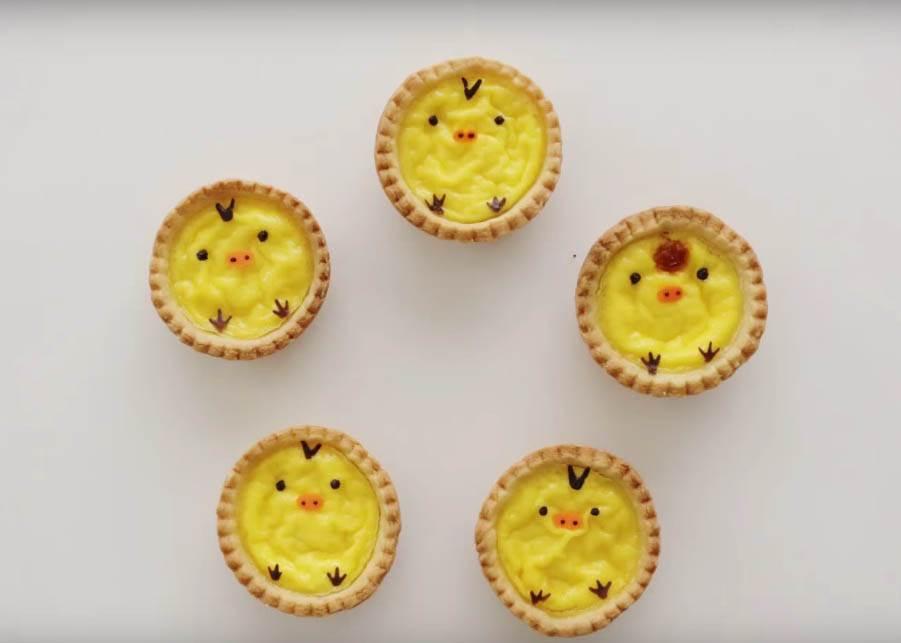 普通蛋塔已經不夠看,「超萌黃色小雞蛋塔」讓你DIY廚藝邁向另一個境界!