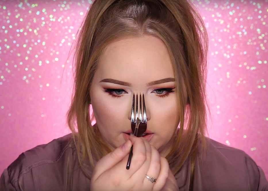 每次畫鼻影都失手變歌仔戲? 最省錢簡單的修容工具竟然就是叉子!