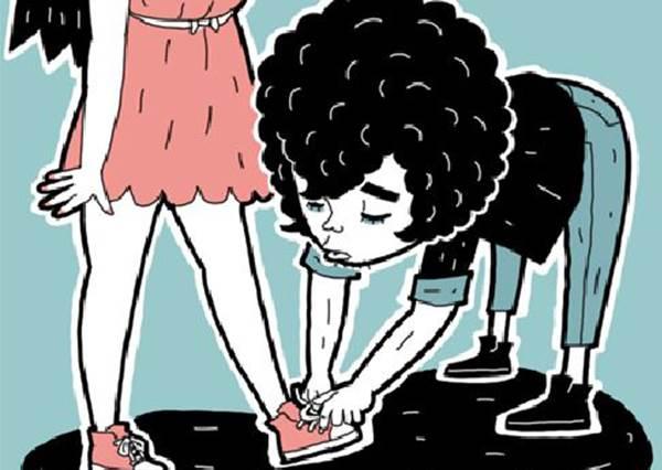如果妳的鞋帶掉了,男友會怎麼幫你綁?皇家等級根本是稀有寶貝啊!