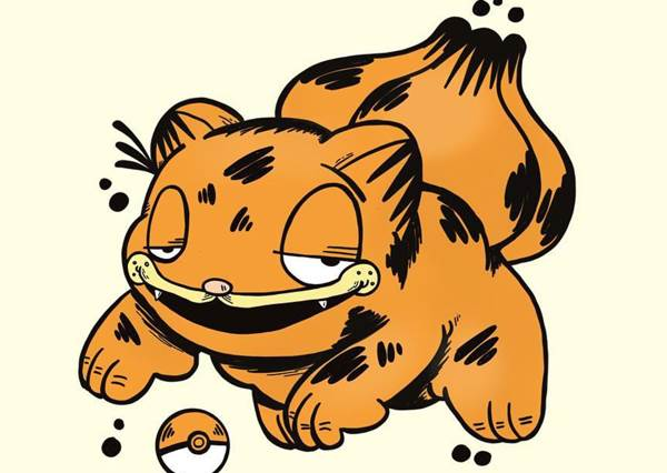 加菲版伊布長的也太厭世!加菲貓COSPLAY寶可夢,扮妙花種子會不會太勉強了?