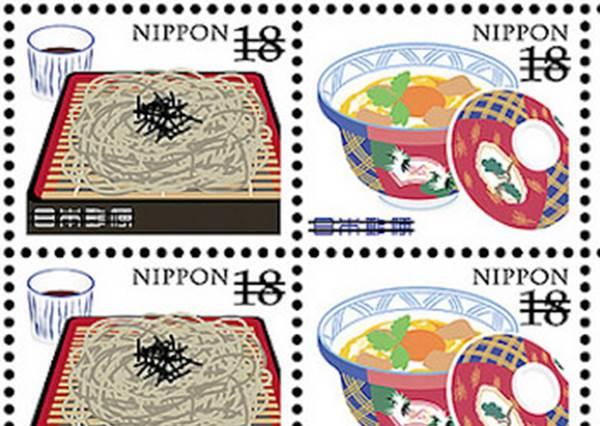 日本海外限定的「料理郵票」,連不是集郵控的都想買了!尤其壽喜燒畫得好細緻喔