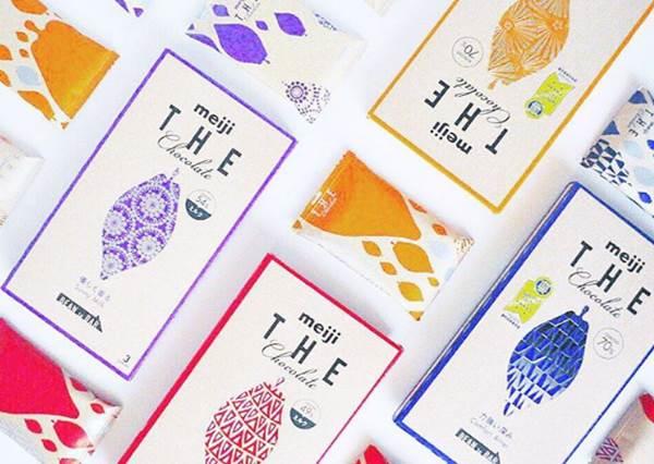 日本一次4個口味的「明治板狀巧克力」你吃過嗎?尤其圓拱區的口味最受歡迎!