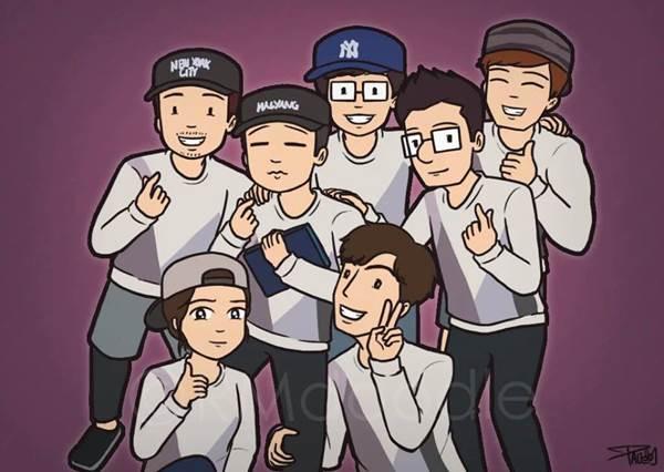 7012永遠在一起!集結RM成員姜Gary告別節目的粉絲插畫,尤其週一情侶這張太有FU了