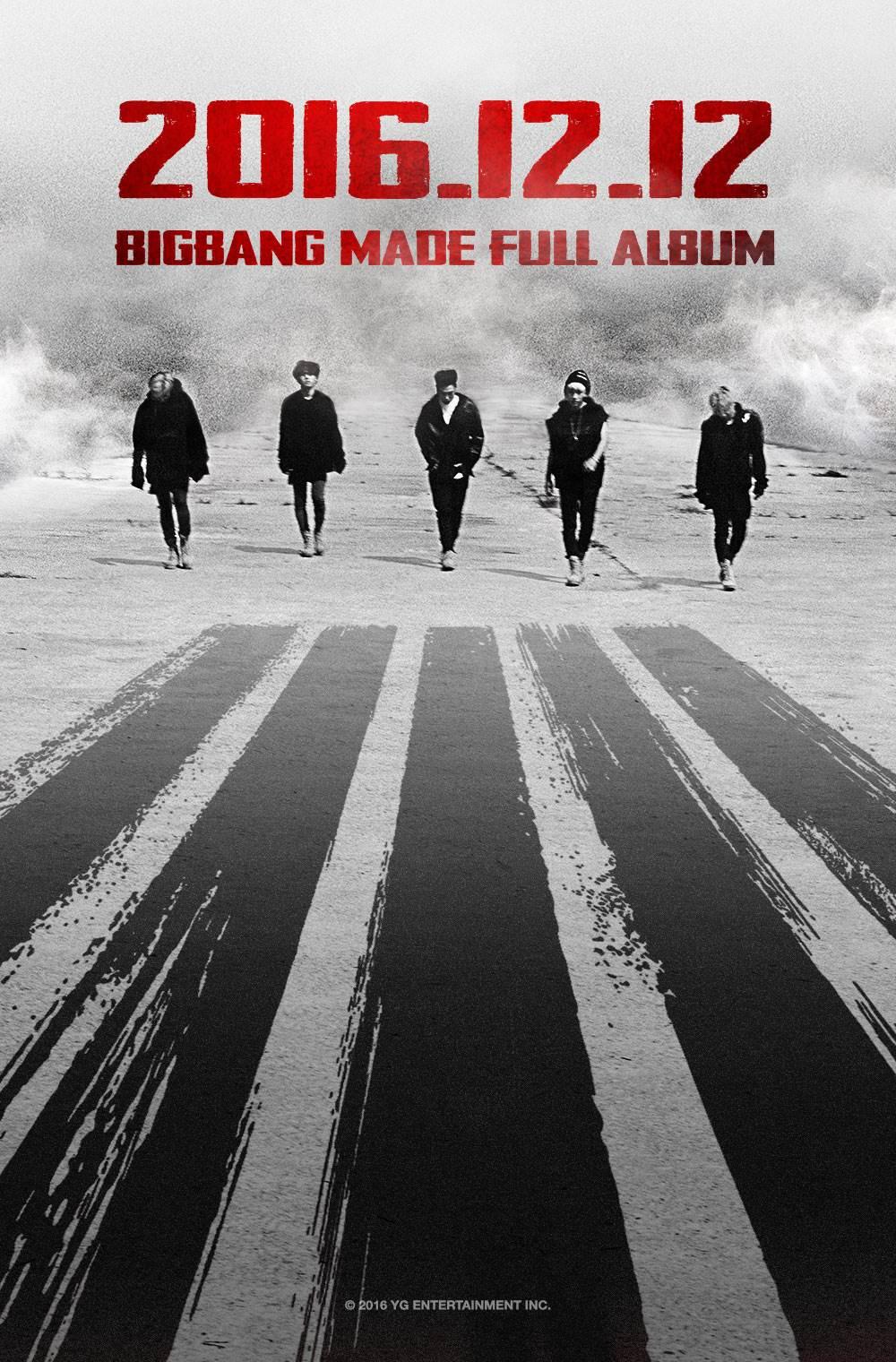 等好久!BIGBANG確定12/12回歸MADE專輯