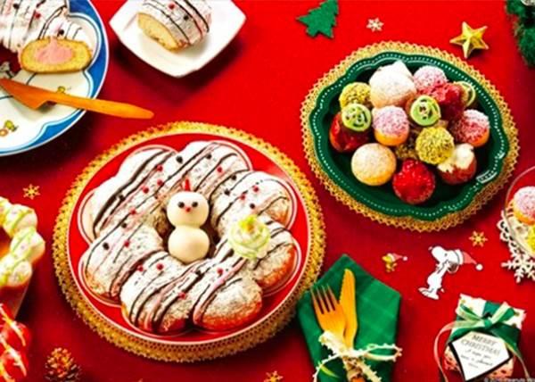 【日本Mister Donut推出史努比聖誕節套裝組合!】好可愛的餐盤跟水杯! 史努比迷們必定要收集的阿 ~!