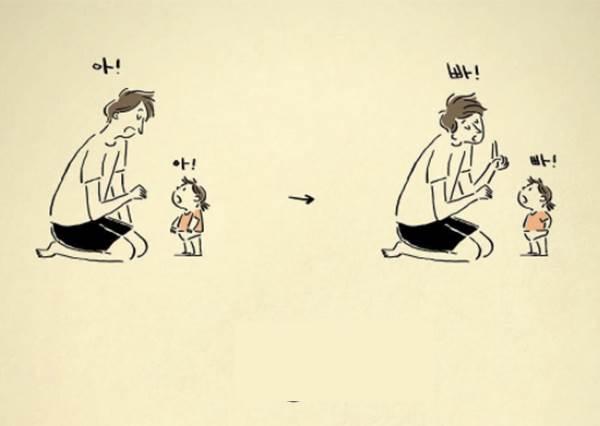 爸爸們,辛苦了!一位韓國爸爸的可愛育兒日記,每張圖都好暖心好有愛❤