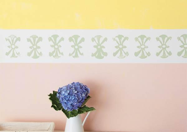 顏色自己配!教你用油漆刷出「雙色手感牆」,圖案還可以隨你換!